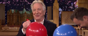 Severus Snape Talks Harry Potter After Inhaling a Bunch of Helium