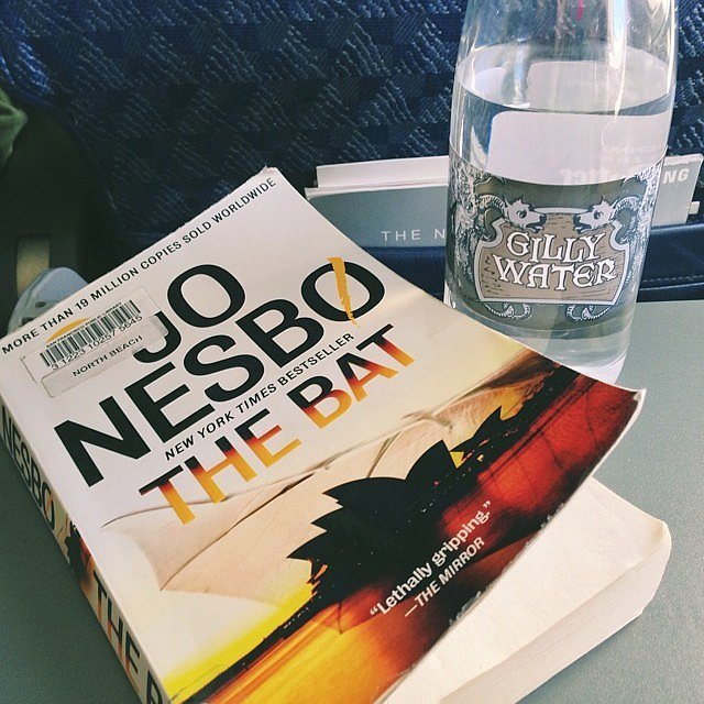 I had my gilly water and a good book with me on the plane.