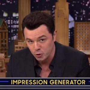 Seth MacFarlane Celebrity Impressions on The Tonight Show