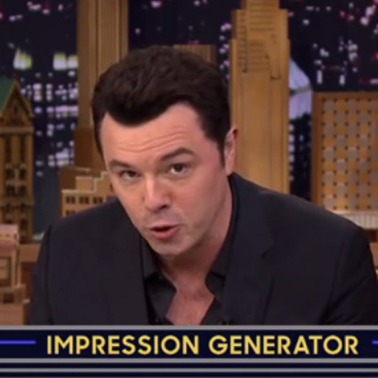 Seth MacFarlane Celebrity Impressions on The Tonight Show