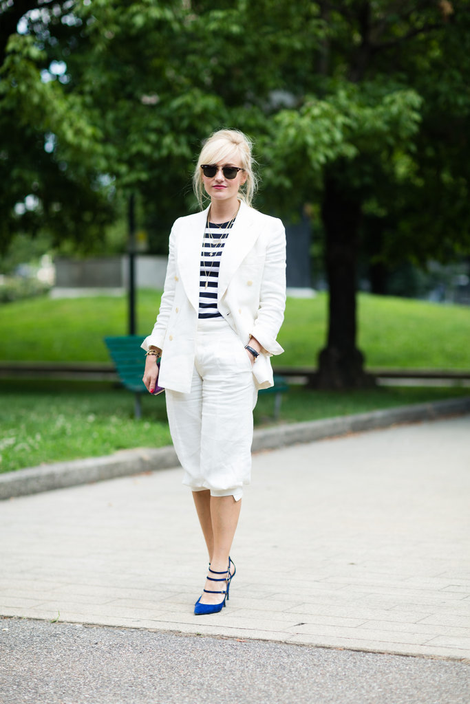 Up the ante by daring to wear white on white.