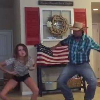 "Dad and Daughter Dance to ""Watch Me (Whip/Nae Nae)"""