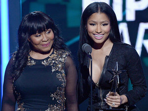 You Can See Where She Gets It! Nicki Minaj Brings Mom Carol Onstage at the BET Awards