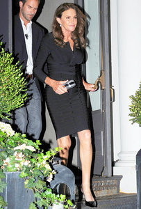 Caitlyn Jenner Steps Out in New York, Looks Gorgeous in Fitted Black Dress and Heels — Plus, That Hair!