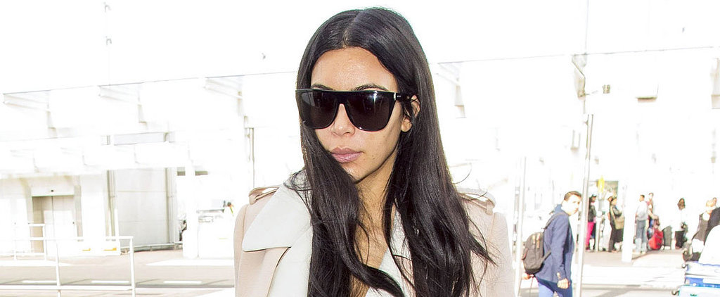 Kim Kardashian's Airport Outfit Looks a Lot Like Her Birthday Suit