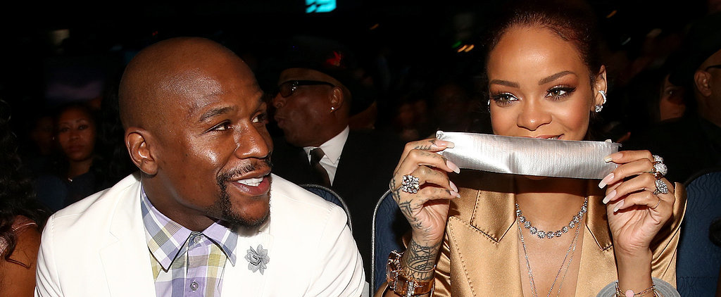 Rihanna Shamelessly Duct Tapes Floyd Mayweather's Mouth Shut