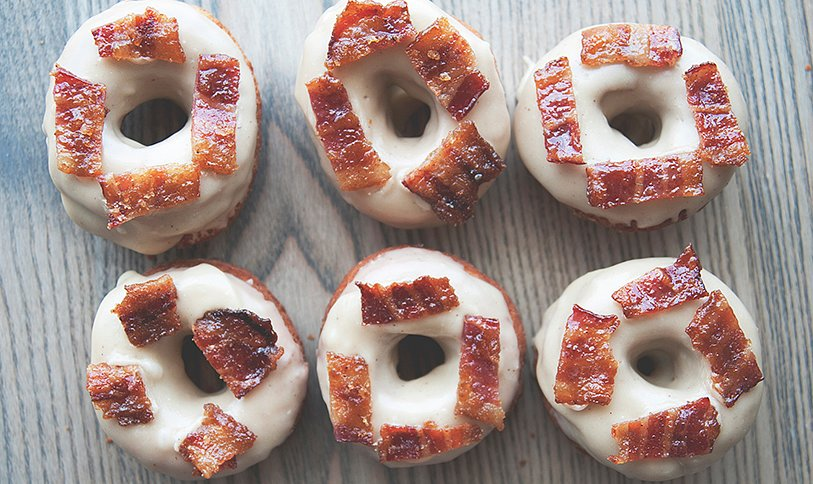 Maple-Bacon Doughnuts Are a Salty-Sweet Morning Treat