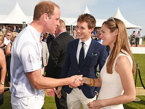 Prince William Reunites with Eton Schoolmate Eddie Redmayne at Polo Match Ahead of Charlotte's Christening