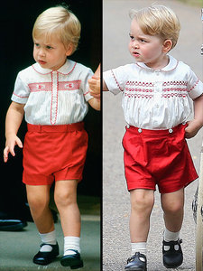 Prince George Wears Lookalike Outfit to His Dad, Prince William, at the Same Age!