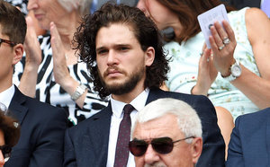 FROM EW: Long-haired Kit Harington Sparks Fan Speculation He'll Return to Game of Thrones