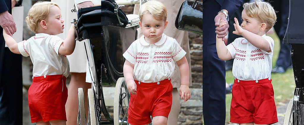 The 22 Cutest Prince George Moments at Princess Charlotte's Christening