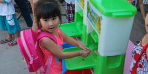 Funky Sink Gets Kids In Cambodia To Wash Up, Could Save Thousands Of Young Lives