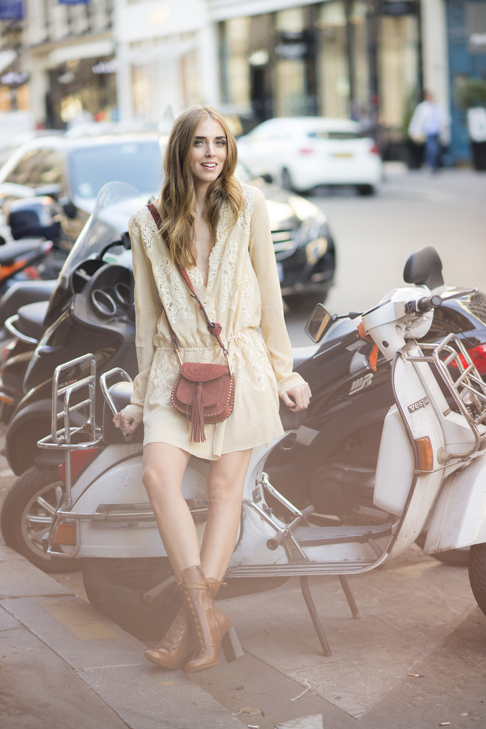 Chiara Ferragni opted for head to toe Chloe during Paris Haute Couture Fashion Week.