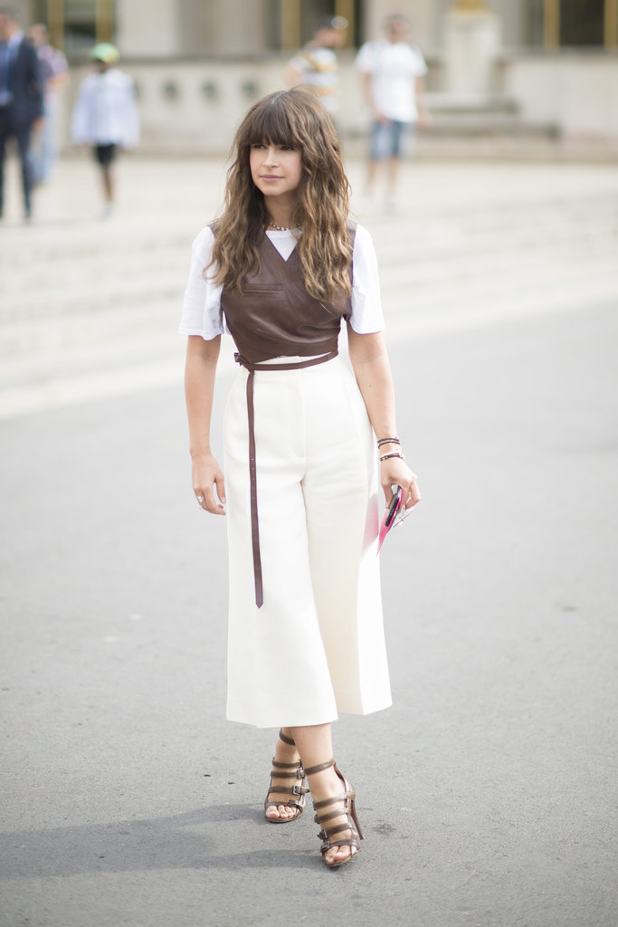 Look to Miroslava Duma for a fresh way to wear leather during Summer.