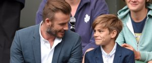 "David Beckham Brings His ""Little Man"" Romeo to a Wimbledon Match"
