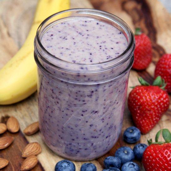 Almond Berry Banana Yogurt Smoothie