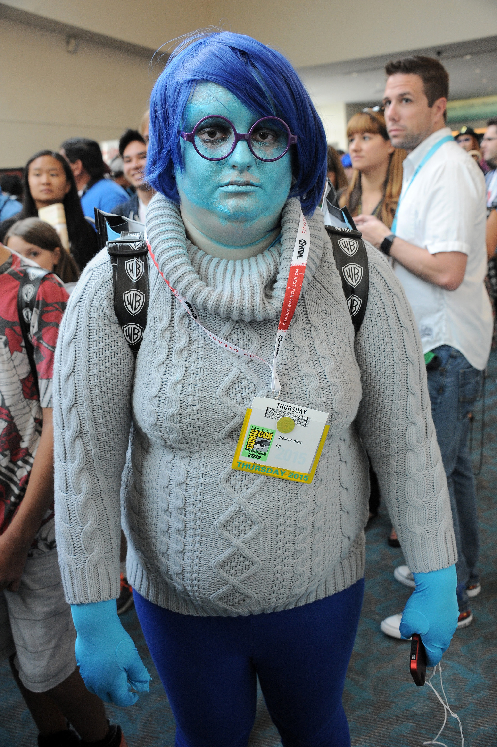 Blue hair characters famous