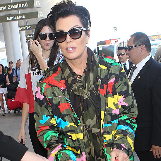 Kris Jenner Camouflage Outfit at Airport