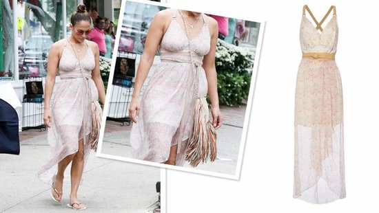 Jennifer Lopez's Semi-Sheer Maxi Dress Is Perfect For A Sweltering Summer Day