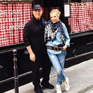 Thalia and Tommy Mottola Paris 2015