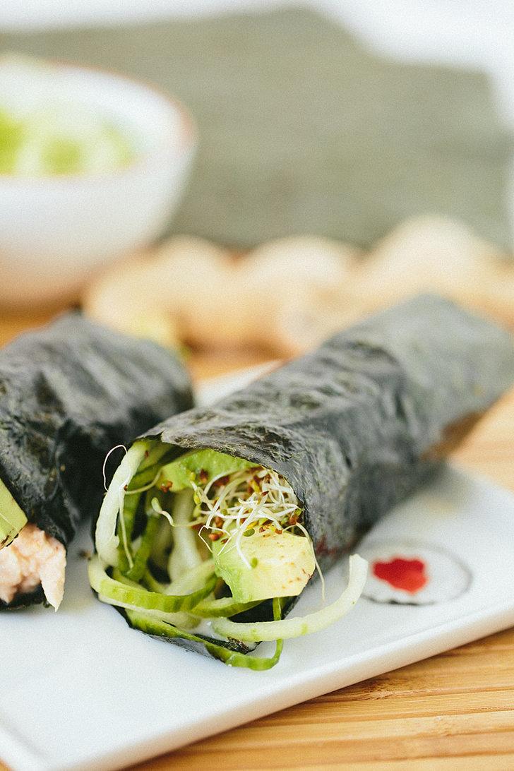 Cucumber-Avocado Tuna Hand Rolls