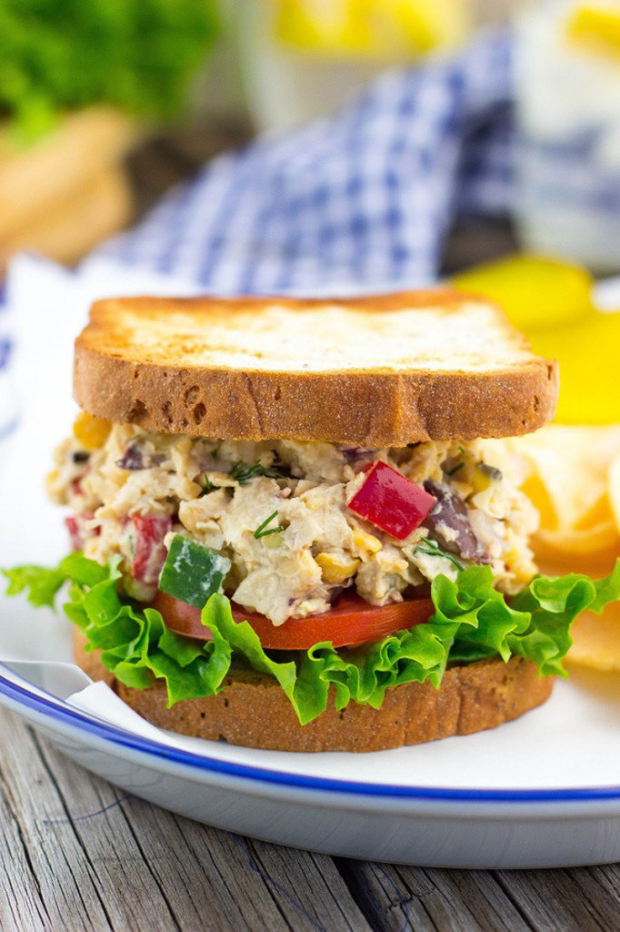 Greek Chickpea Salad Sandwich