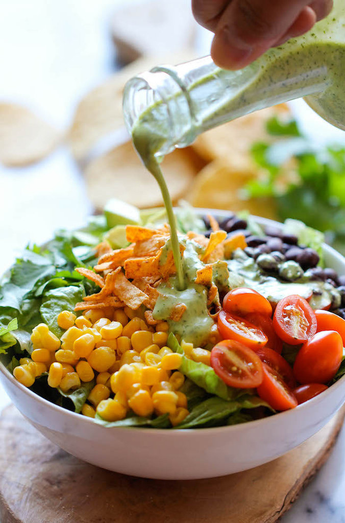 Southwestern Chopped Salad With Cilantro-Lime Dressing