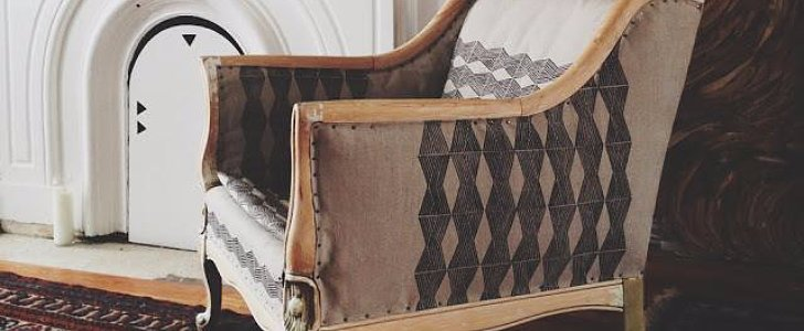 This DIY Upholstered Chair Has a Brilliant Twist