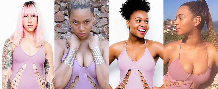 POPSUGAR Shoutout: Look! Our Editors Tried on Beyoncé's Swimsuit!