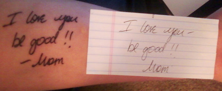 This Girl's Heartbreaking Tattoo in Memory of Her Mum Will Make You Tear Up