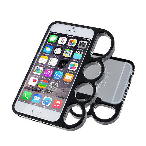While many people might find that the Premium Aluminum Brass Metal Bumper Knuckle Case ($13) is a case designed for safety, it also functions as a steadier way to hold your phone and take photos.