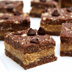 Healthy Chocolate Peanut Butter No-Bake Dessert
