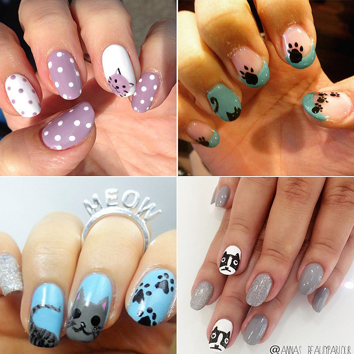 The Cat Lady in All of Us Will Love This Feline-Inspired Nail Art