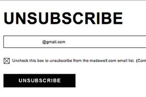 Madewell's Email Unsubscribe Form Is The Worst