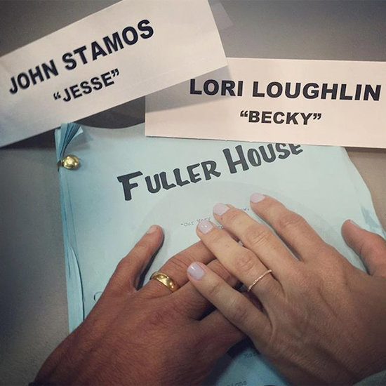 John Stamos and the Fuller House Cast Have Been Sharing Adorable Set Pictures