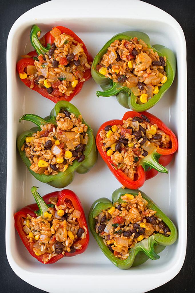 Chicken Fajita Stuffed Peppers