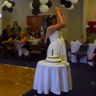 Girl Drops Baby to Catch Bouquet