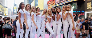 The Newest Victoria's Secret Angels Descend on Times Square in New York