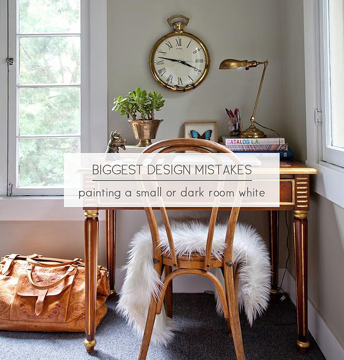 Why not to paint a small room white popsugar home for Apartment design mistakes
