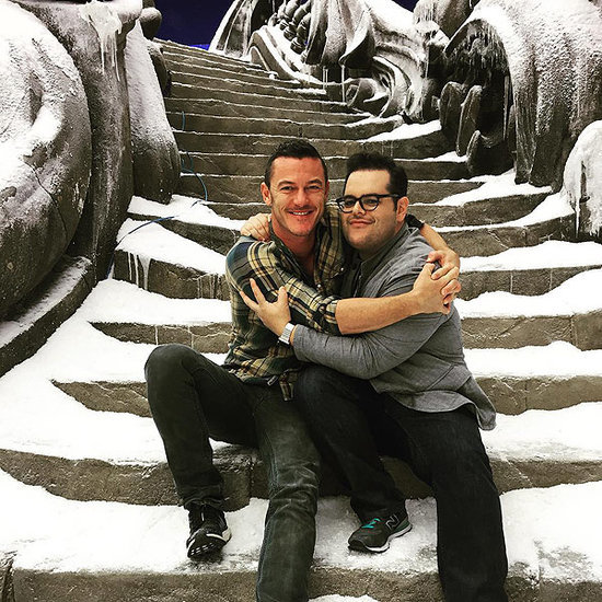 Be Our Guest and Take a Look! Luke Evans and Josh Gad Wrap Up Filming on Beauty and the Beast