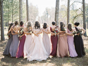 21 Bridal Parties Who Flawlessly Executed The Mismatched Dress Trend