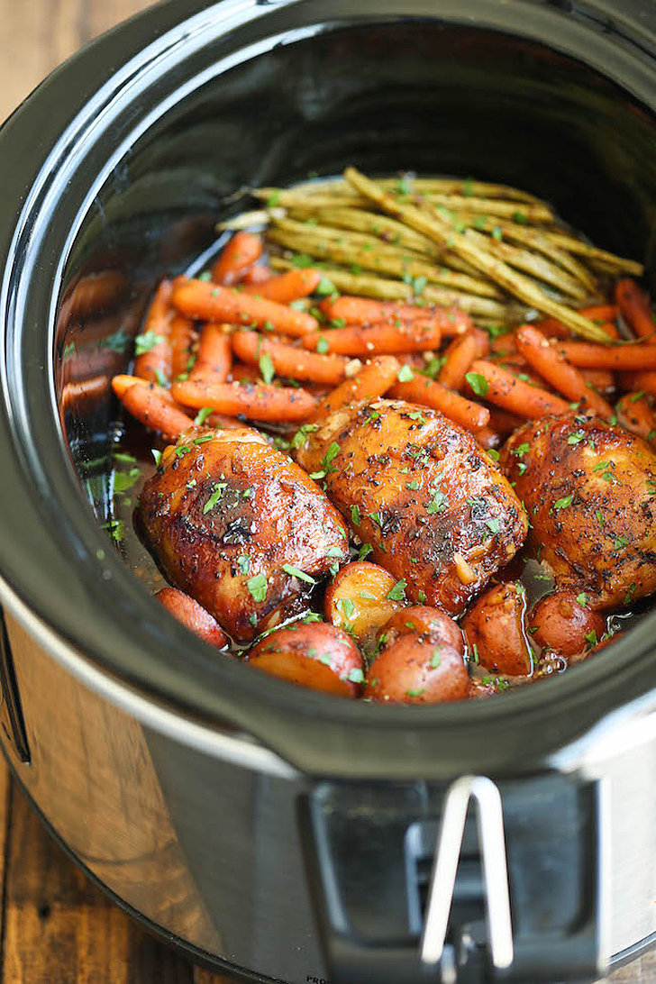 Slow cooker honey garlic chicken and vegetables 60 for Different meals to make with chicken