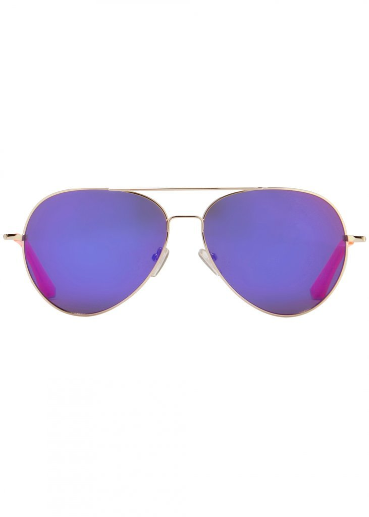 ray ban aviator blue violet mirror lense sunglasses for women