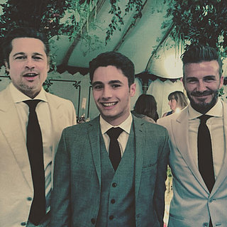 Brad Pitt and David Beckham at Guy Ritchie's Wedding