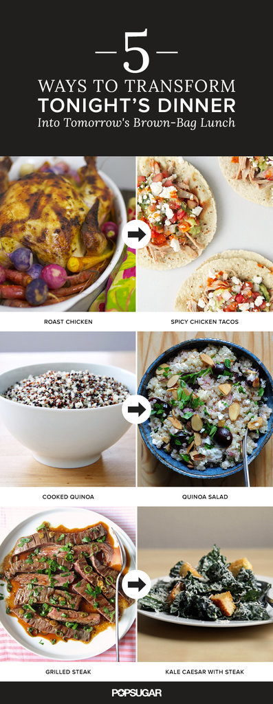5 Brown-Bag Lunches That Start With Tonight's Dinner