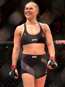 UFC Champion Ronda Rousey KOs Challenger in 34 Seconds, Tells Her 'Don't Cry'