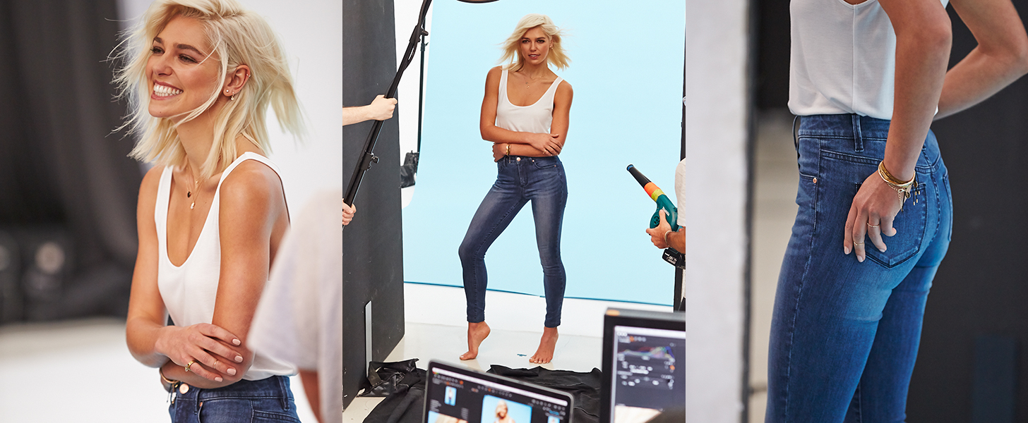Come Behind the Scenes of Ashley Hart's Sexy New Denim Campaign