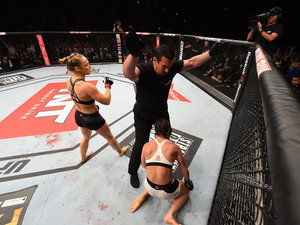 Ronda Rousey Told Bethe Correia 'Don't Cry' After Beating Her Up