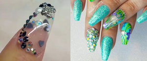 Take Your Mermaid Love to the Next Level With Aquarium Nails