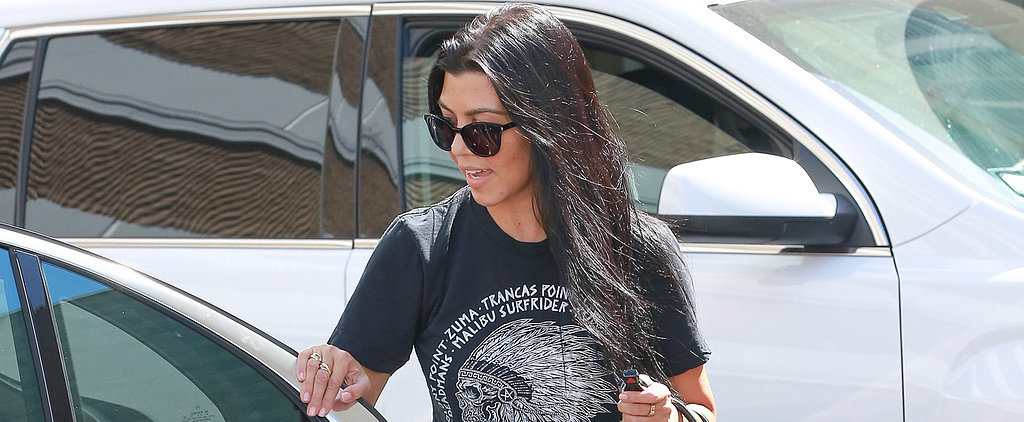 Kourtney Kardashian Makes It All About Her Sexy Stems